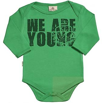 Spoilt Rotten We Are Young Long Sleeve Organic Baby Grow