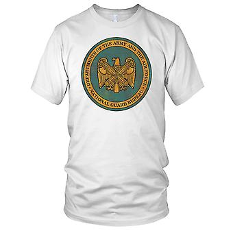 National Guard Of Army And Airforce Bureau Grunge Ladies T Shirt