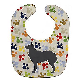 Carolines skatter BB6326BIB kroatisk gjeterhund Pawprints Baby Bib