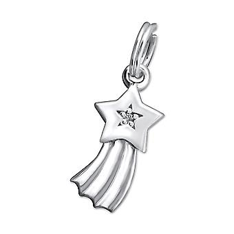 Shooting Star - 925 Sterling Silver Charms With Split Ring - W29176x