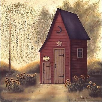 Folk Art Outhouse II Poster Print by Pam Britton (12 x 12)