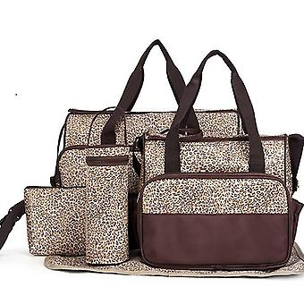 Baby Changing Bag Bundle - 5 Piece Animal Print