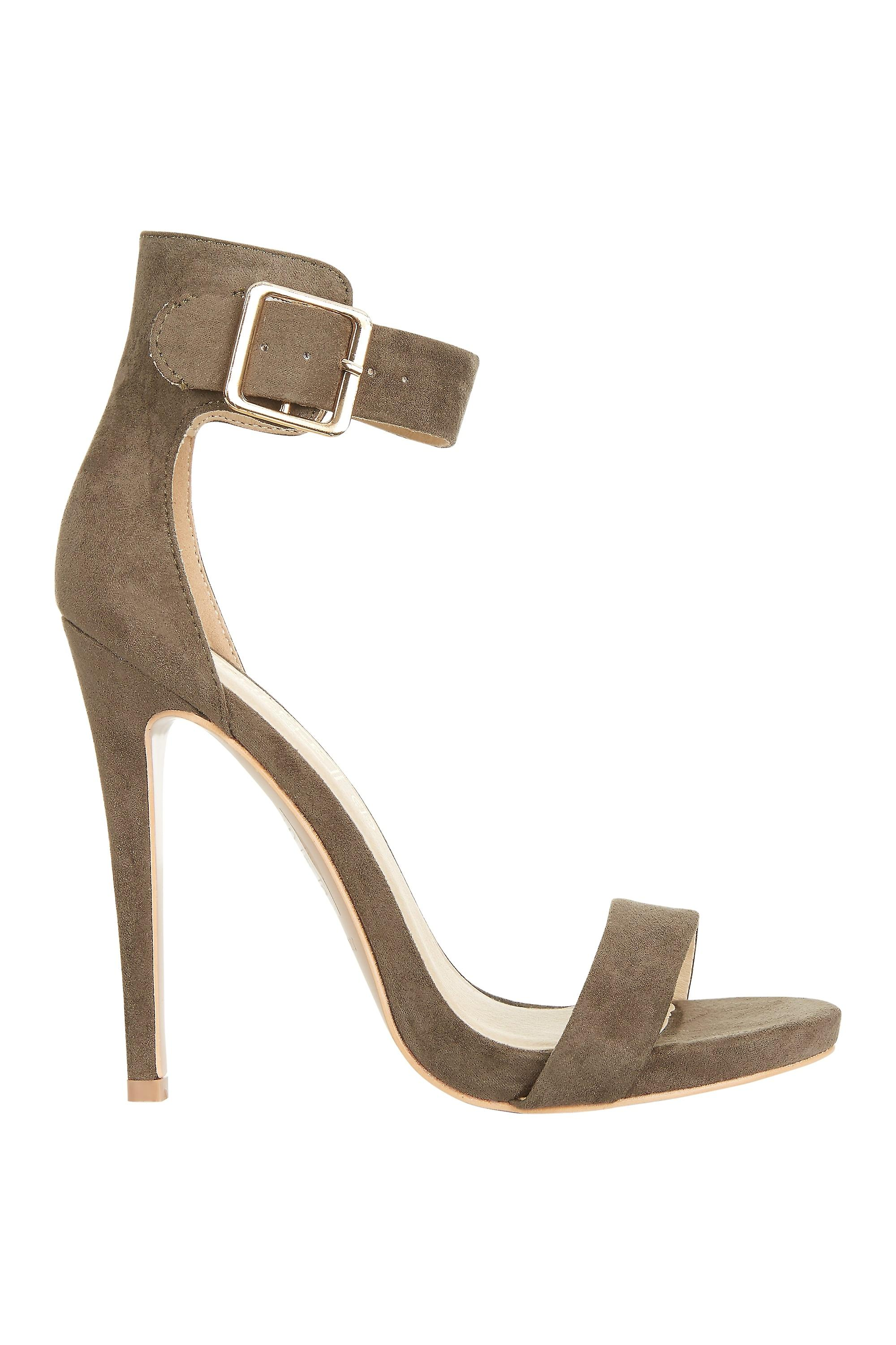 Truffle With High Heeled Suede Sandal Detail Collection Buckle zwazO