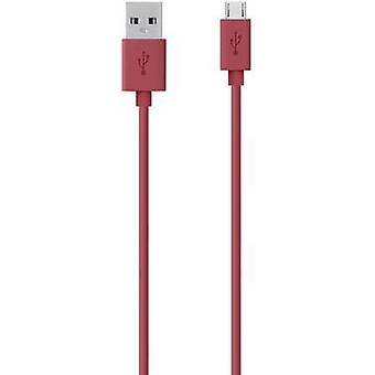USB 2.0 Cable [1x USB 2.0 connector A - 1x USB 2.0 connector Micro B] 2 m Red Belkin