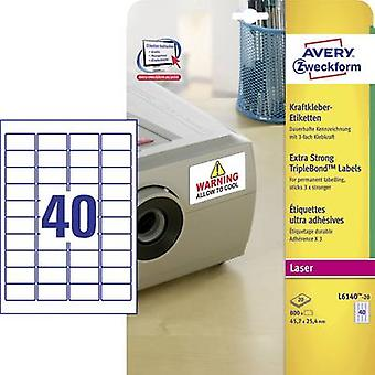 Avery-Zweckform L6140-20 Labels (A4) 45.7 x 25.4 mm Polyester fi