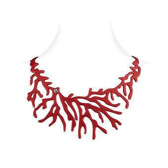 Wife coral effect tattoo in red Silicone necklace