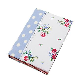 Large Blue Polka Dot & Floral A7 Notebook