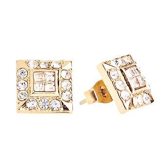Iced out bling earrings box - HOT SQUARE gold