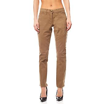 Tamaris trousers decorative quilting short size ladies Brown