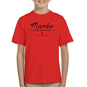 Mambo Cubano Surf Black Kid's T-Shirt