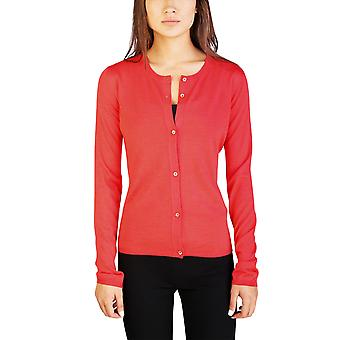 Miu Miu Women's Cashmere Silk Blend Cardigan Sweater Coral