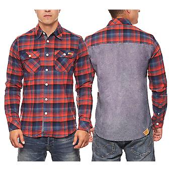 CHIEMSEE men's Baumfäller Orwe red check shirt