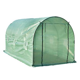 Outsunny Steel Steel Greenhouse Polytunnel Outdoor Walk-in Shed Flower Plant 4 x 2 M Outdoor Walk-in Shed Flower Plant 4 x 2 M