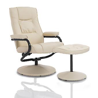 Homcom Recliner Chair Lounger Seat w/ Footrest Foot Stool