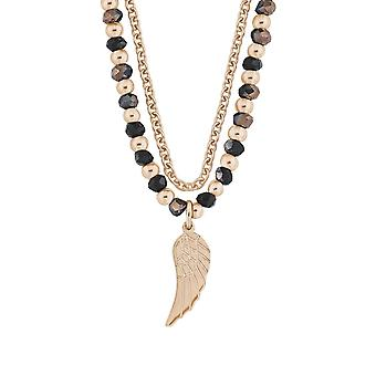 s.Oliver jewel ladies chain stainless steel leaf Rosé gold 2012508