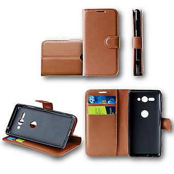 WIKO vista 2 bolsillo cartera premium marrón Schutz funda Funda bolsa nuevos accesorios