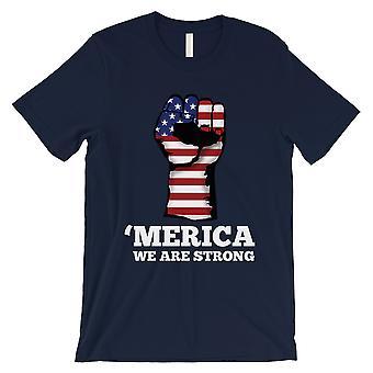 Merica wir starke Mens Marine 4. Juli Shirt Armee Vater Geschenk T-Shirt