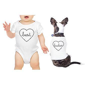 最高の女の子ペット t シャツ白ボディスーツ ベビー シャワーのギフトに一致する赤ちゃん