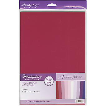 Hunkydory Adorable Scorable A4 Cardstock Pack 10/Pkg-Pinks & Purples