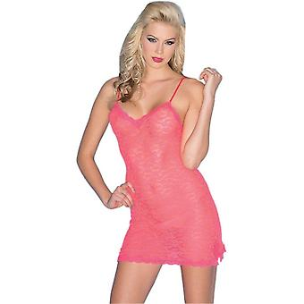 Be Wicked BW1526HP Stretchy Lace Chemise Dress with lace trim