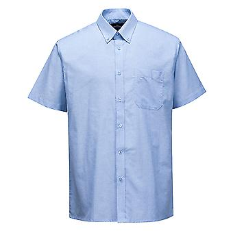 Portwest Mens Oxford Easycare Polycotton Short Sleeve Shirt