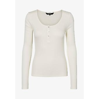 VERO MODA fine knit long-sleeved shirt women white