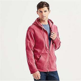 Comfort Colors Unisex Adults Full Zip Hooded Sweatshirt