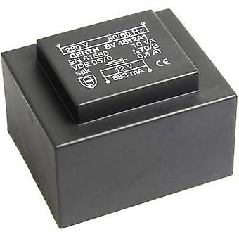 PCB マウント変圧器 1 x 230 V 2 x 12 V AC 10 VA 416 mA PT482402 Gerth