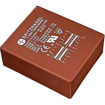 PCB mount transformer 2 x 115 V 2 x 15 V AC 25 VA 833 mA SPF 2531515 Spitznagel