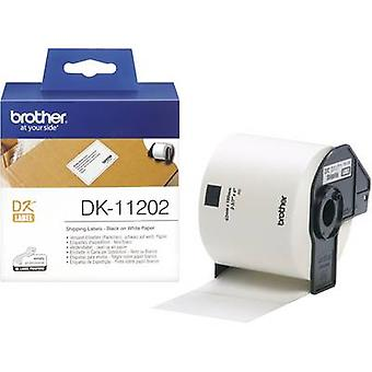 Brother DK-11202 Label roll 100 x 62 mm Paper White 300 pc(s) Permanent DK11202 Shipping labels