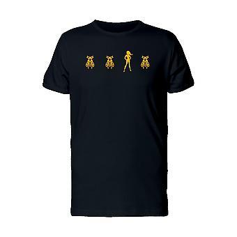 Bee Girl Superhero Men's White T-shirt