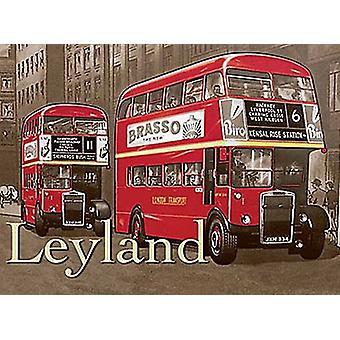 Leyland Large Steel Sign 400Mm X 300Mm