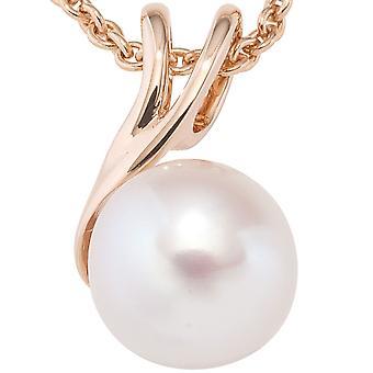 Perline ciondolo 585 oro rosa oro 1 perla in acqua dolce Ciondoli oro