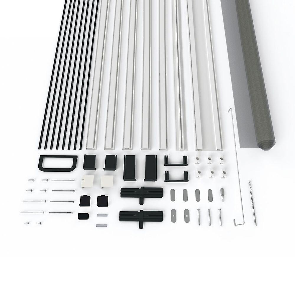 Fliegengitter Türbausatz Insekten-schutz 120 x 240 cm in Weiß