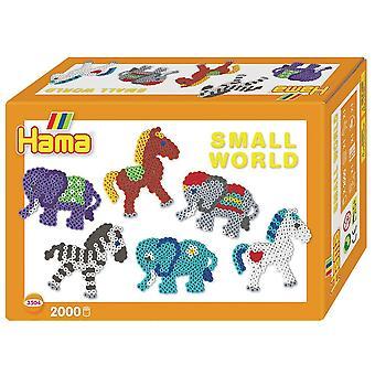 Hama Perlen Small World Pony und Elefant