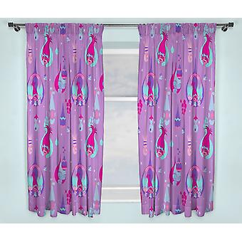 Trolls Poppy Curtains 168 cm x 183 cm