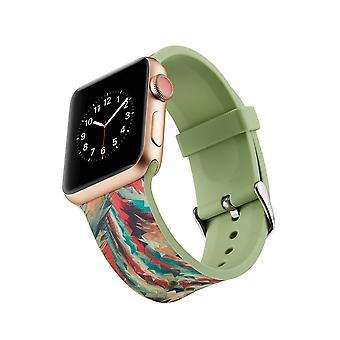 Klockrem in silicone per Apple Watch 4 1/2/3 44 mm, 42 mm-Colorful geometrica