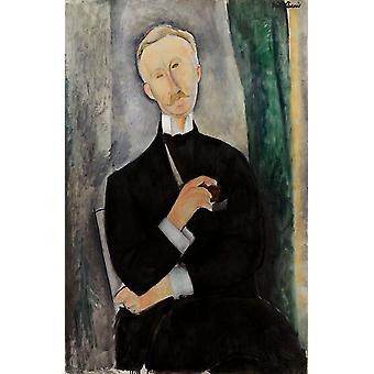 Roger Dutilleul, Amedeo Modigliani, 40x60cm with tray