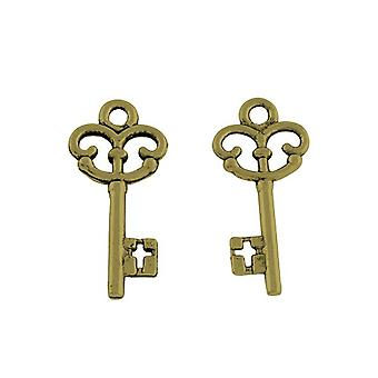 20 x antiguo tibetano bronce 23mm Alice Steampunk Key encanto/colgante HA09355