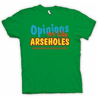 Mens T skjorte meninger er som Arseholes, alle har en og dine stinker