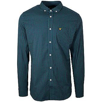 Lyle & Scott Lyle & Scott Navy & Green Gingham Short Sleeve Shirt