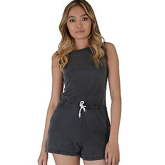Double Agent Slate Grey Relaxed Fit Playsuit With Draw String Waist