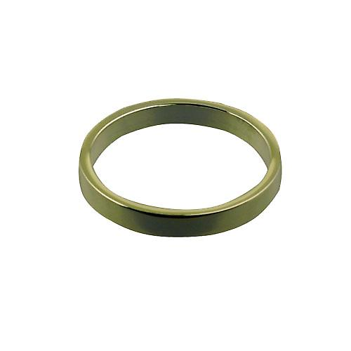 9ct Gold 3mm plain flat Wedding Ring Size Z