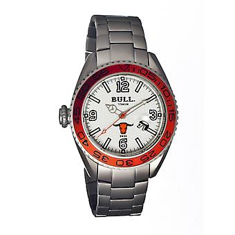 Bull Titan Hereford Schweizer Armband Herrenuhr - White