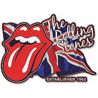 Rolling Stones Lick The Flag formet syes / jern på klut patch (ro)