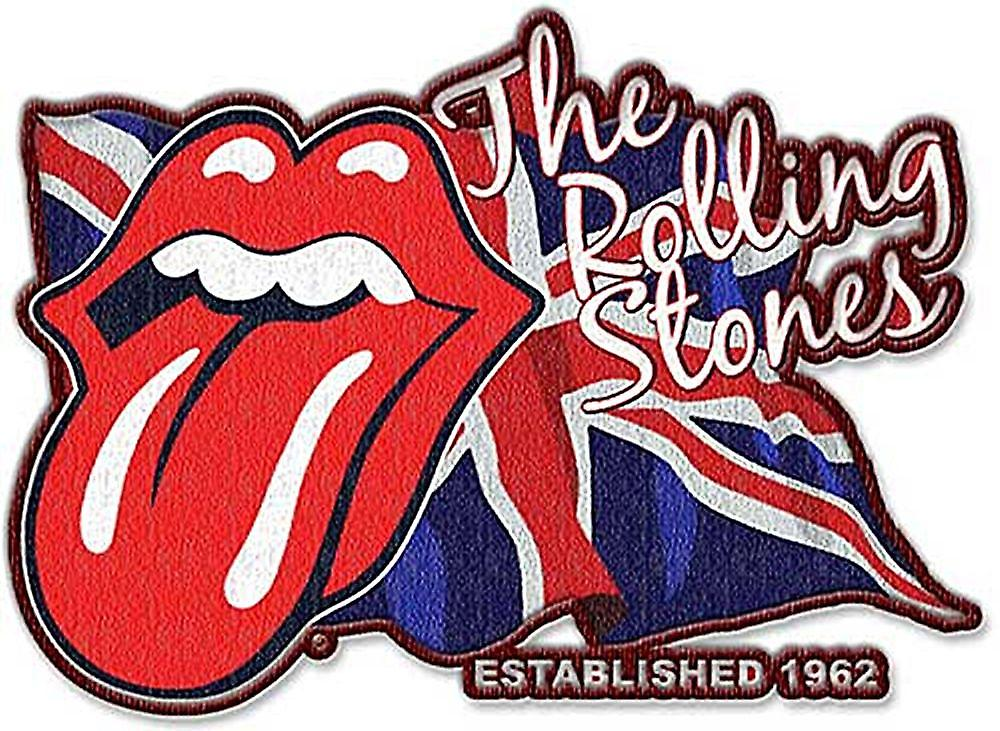 Rolling Stones Lick The Flag shaped sew on / iron on cloth patch  (ro)