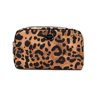 Dolce E Gabbana Leopard Polyester Beauty Case
