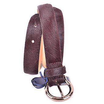 Jacob Cohen Burgundy Pony Skin Belt