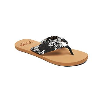 Roxy Womens Paia III Casual Thong Beach Sandals - Black/White