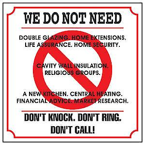 We Do Not Need... enamelled steel door sign